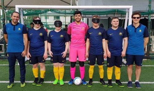 Australian blind football teams make international debuts