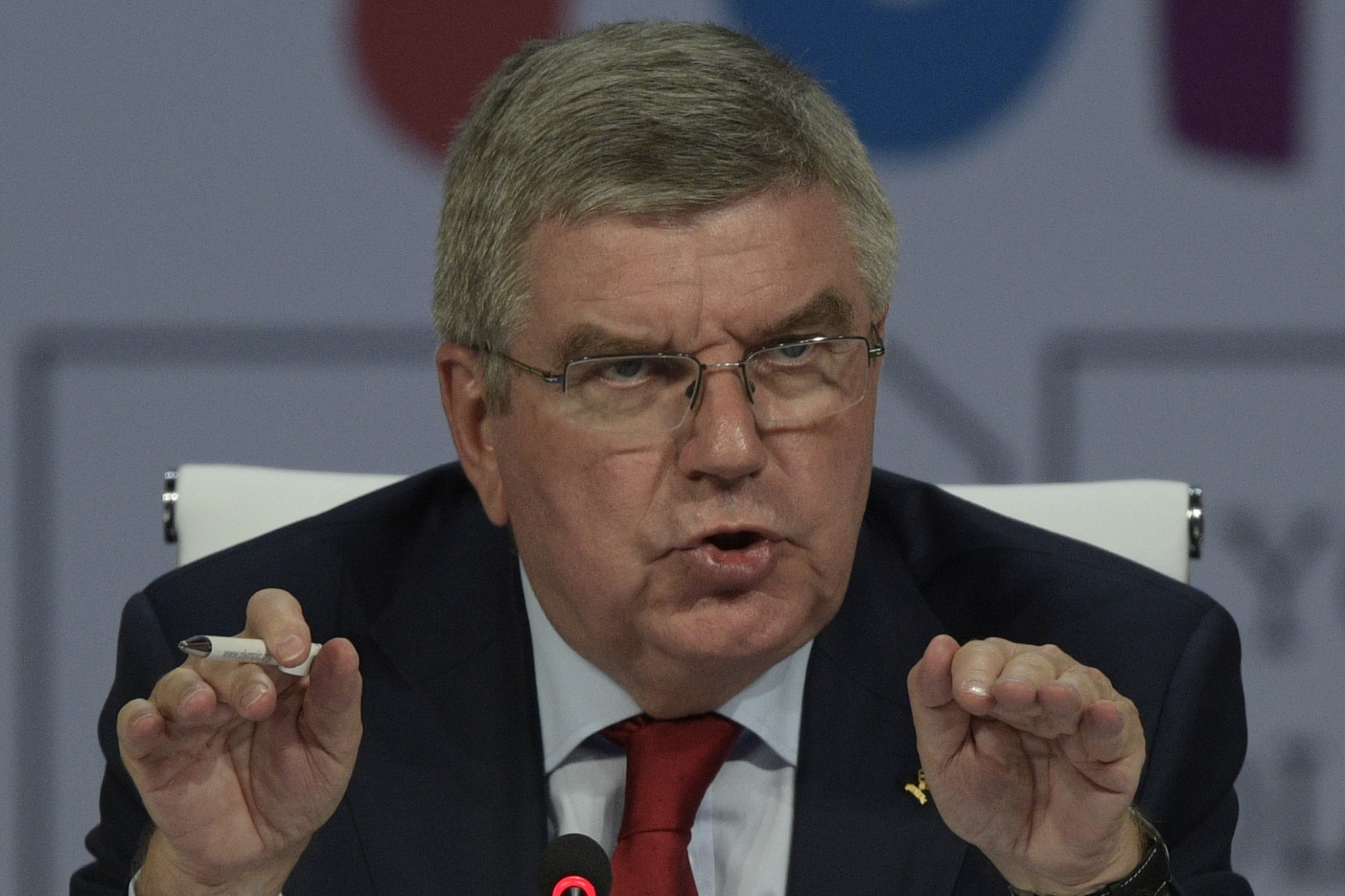 IOC President Thomas Bach said the team showed their continued commitment to helping refugees ©Getty Images