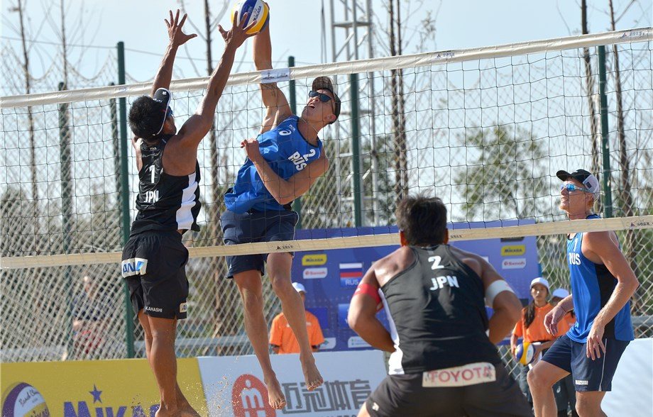 Brazil and Russia star in qualification round of FIVB Beach Yangzhou Open