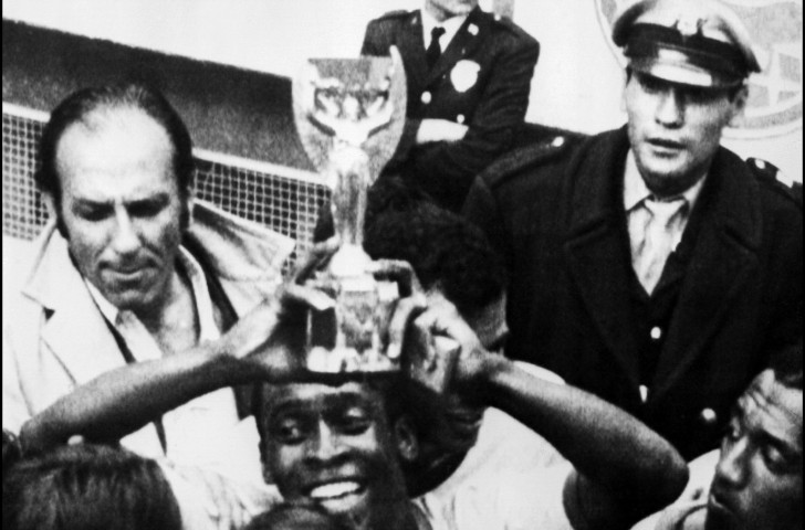 Pelé brandishes the Jules Rimet trophy after Brazil earned the right to keep it with a third World Cup final win in 1970 - but in 1983 it was stolen and has not been seen since ©Getty Images