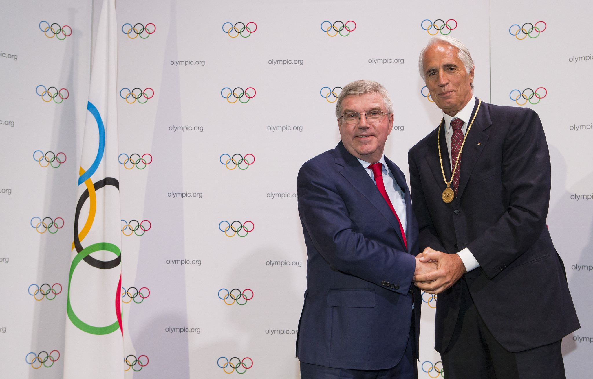 Milan-Cortina d'Ampezzo was approved as a candidate for the Games on the same day Italian National Olympic Committee head Giovanni Malagò was made an IOC member ©IOC