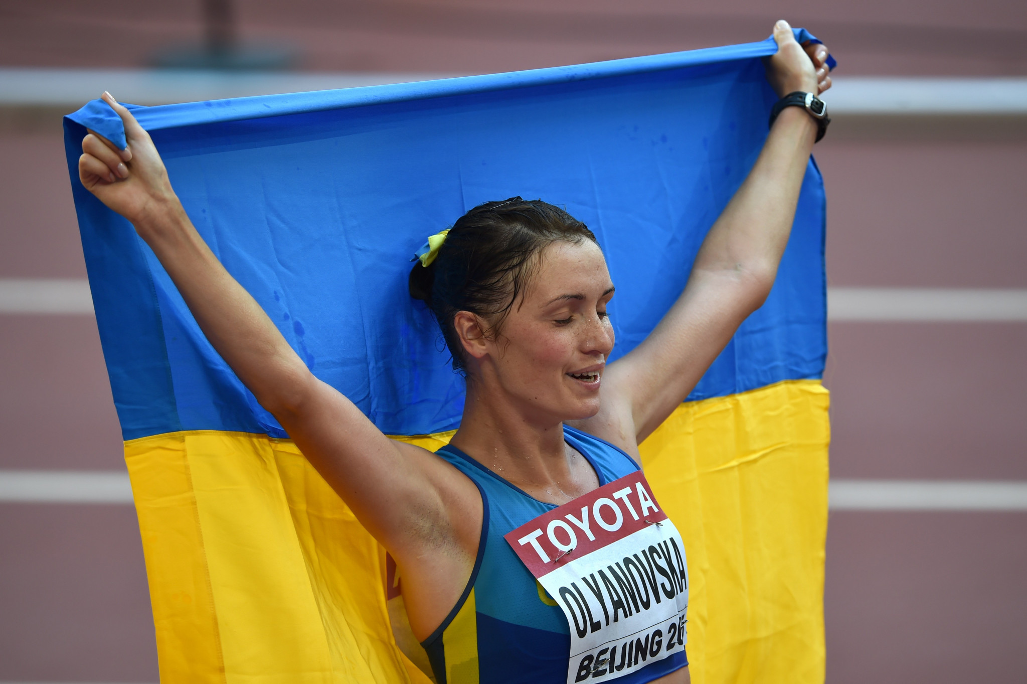Another Ukrainian race-walker, Lyudmyla Olyanovska, is also currently banned for an anti-doping violation ©Getty Images