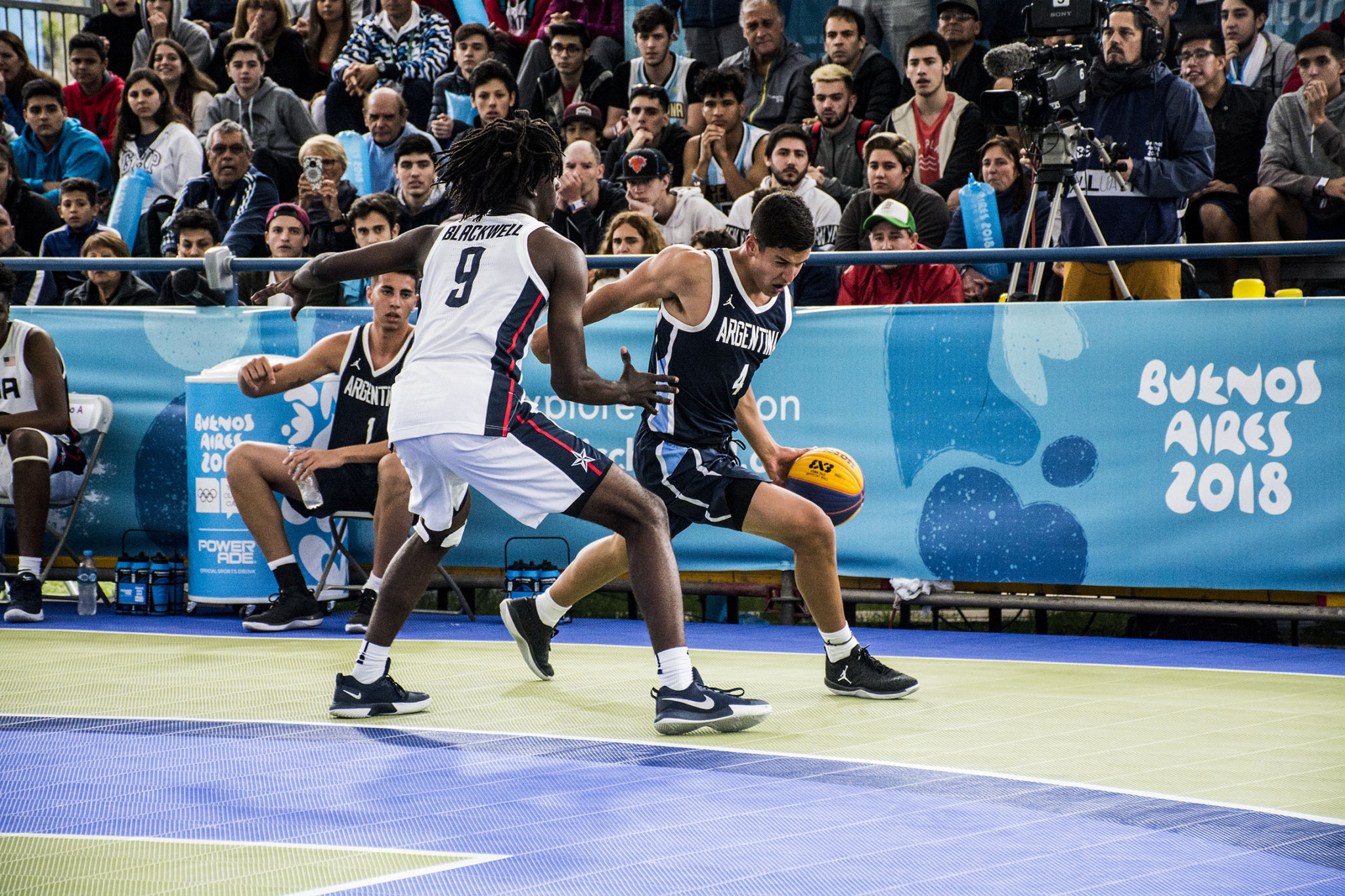 3x3 basketball action continued at the Urban Park ©Buenos Aires 2018