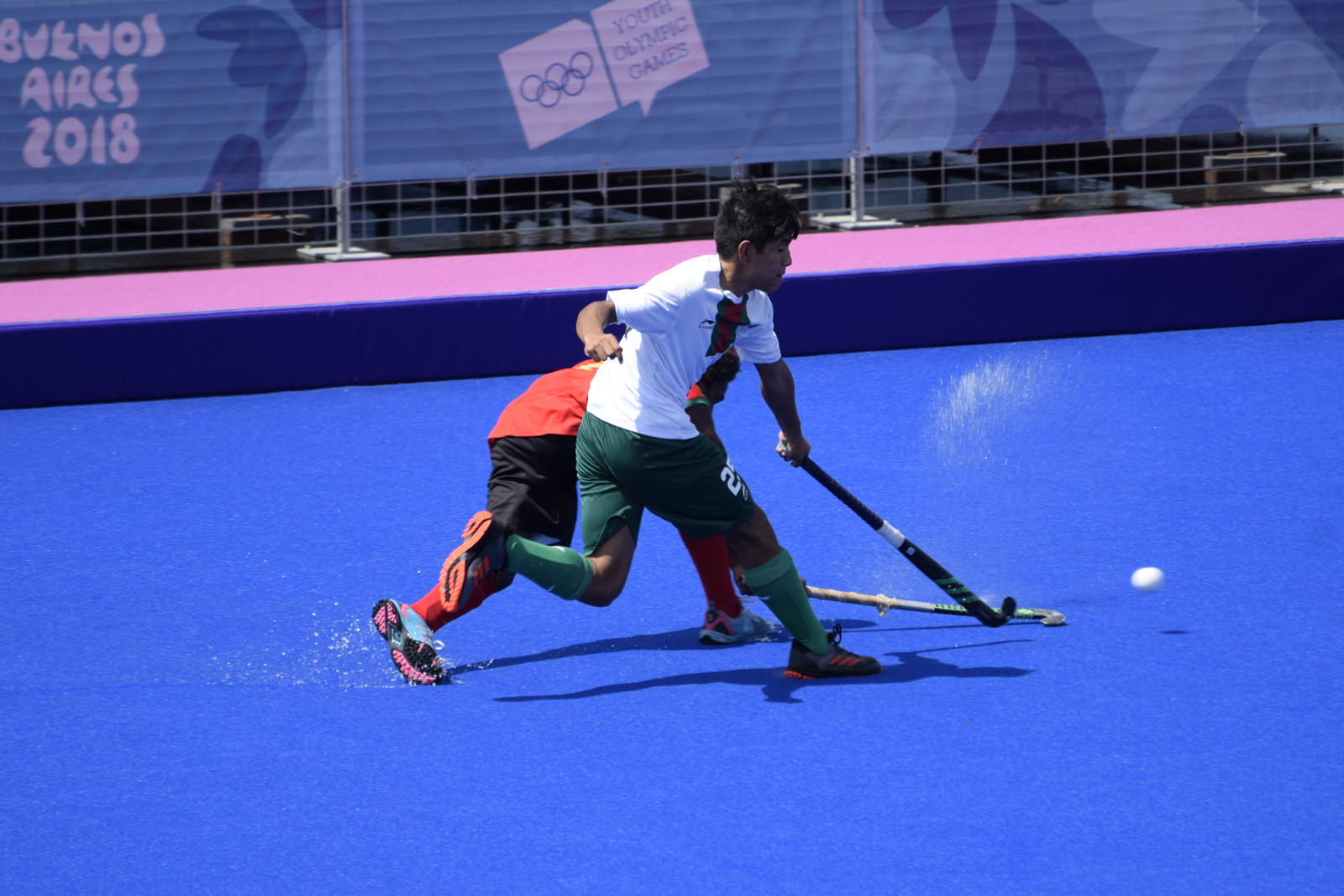 Hockey 5s action continued as the group phases began to take shape ©Buenos Aires 2018