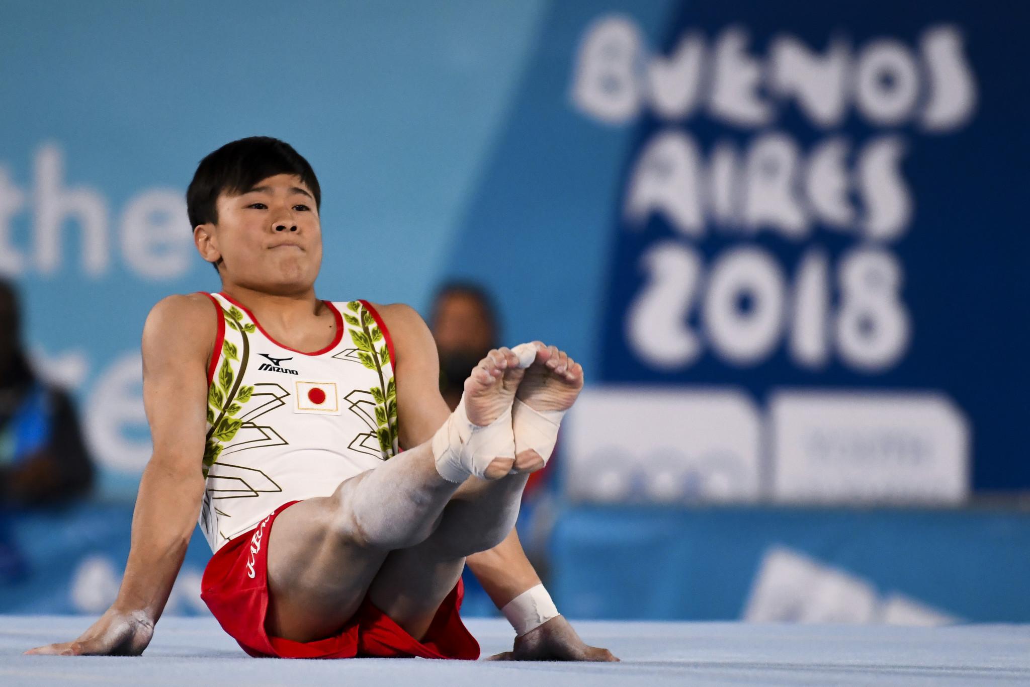 Takeru Kitazono won the men's all-around gymnastics title ©Getty Images