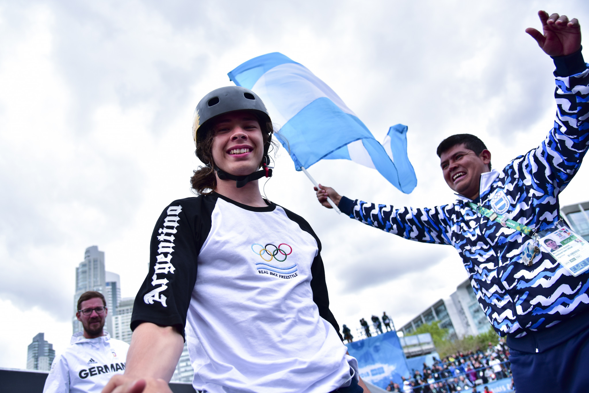 Hosts share BMX Freestyle Park gold with Germany as discipline makes Youth Olympic Games debut