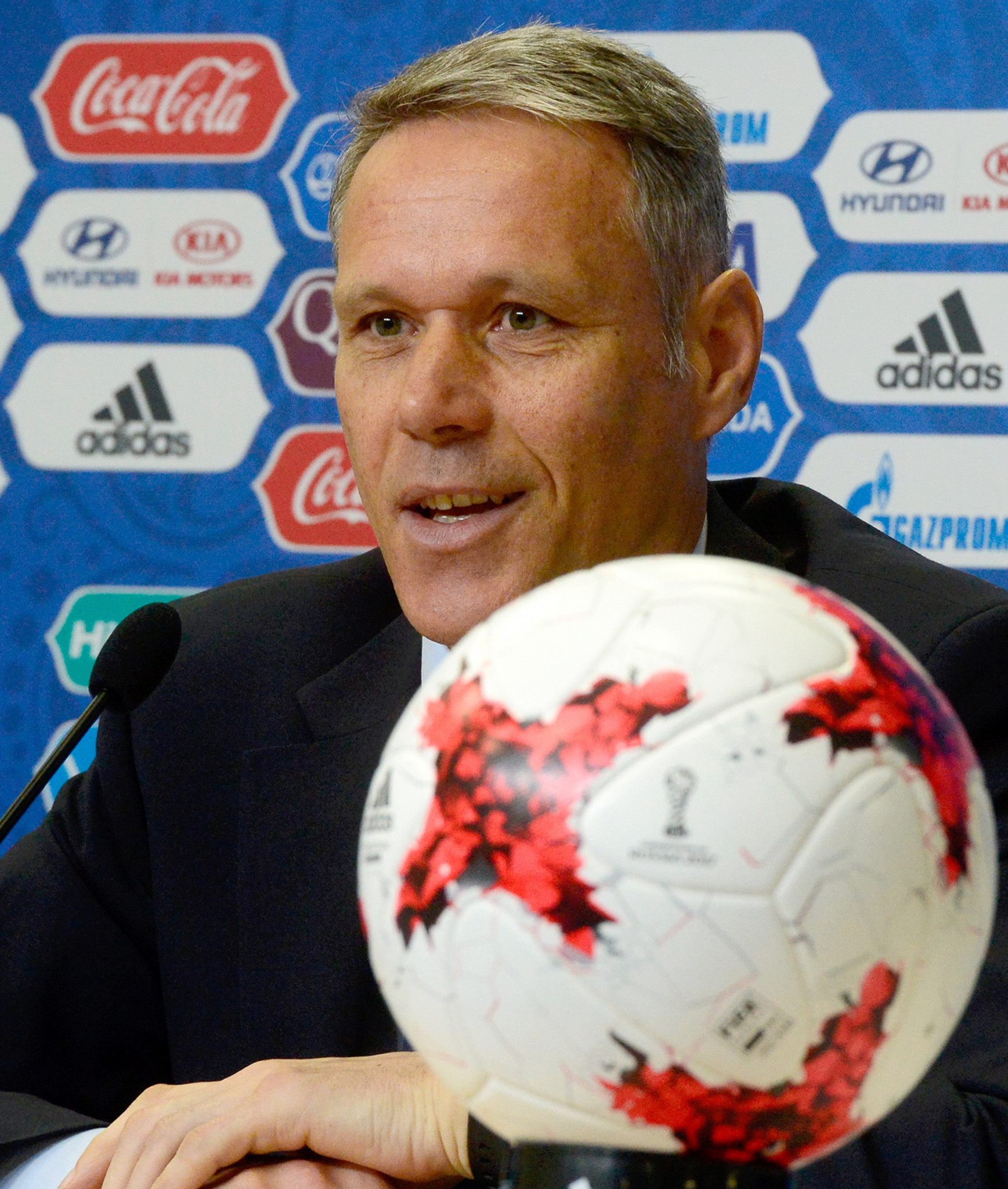 Dutch football legend Marco van Basten is to leave his role as FIFA's chief technical development officer at the end of the month ©Getty Images