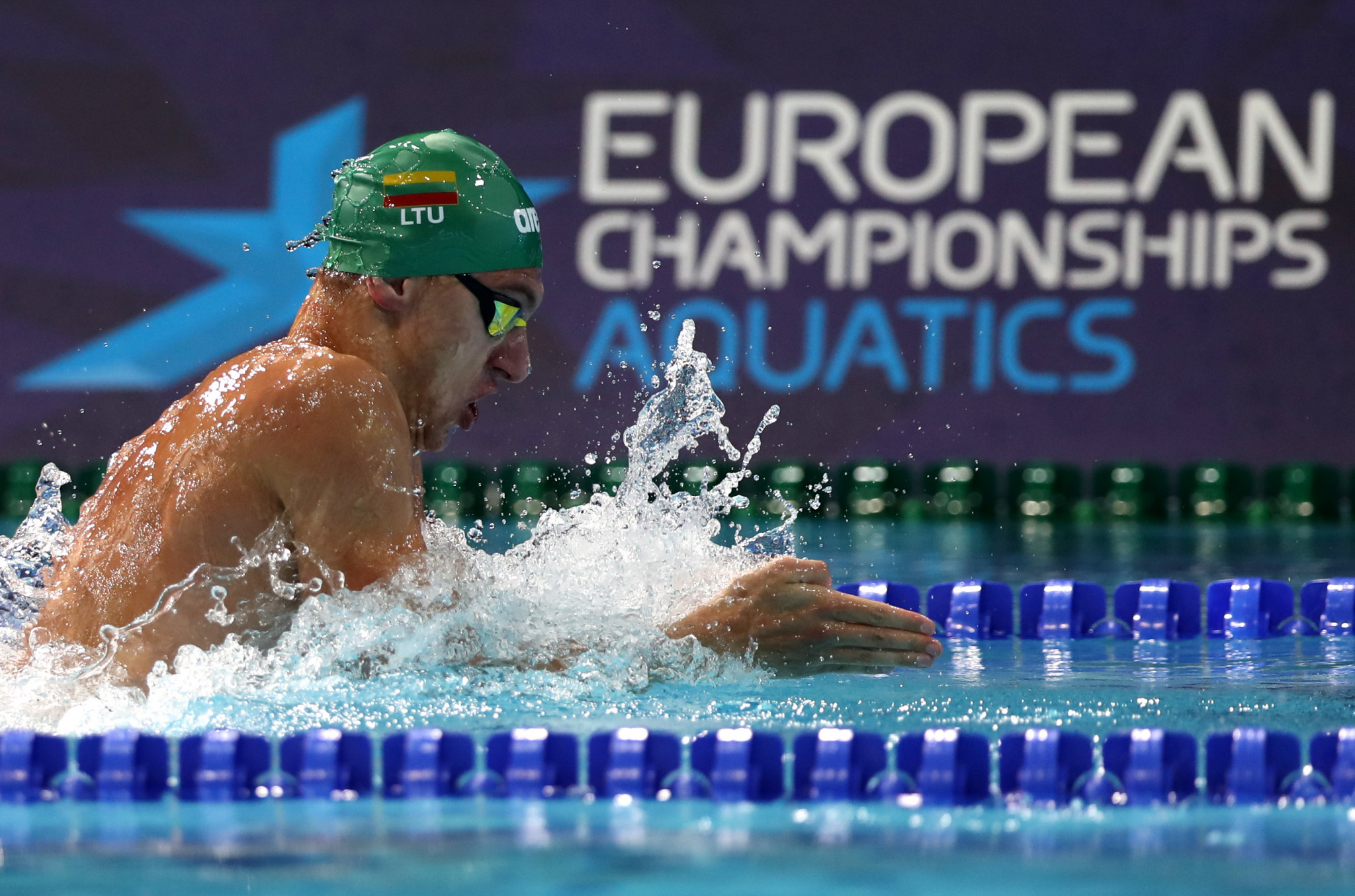 MicroPlus' services were used at the 2018 European Aquatics Championships in Glasgow ©Getty Images