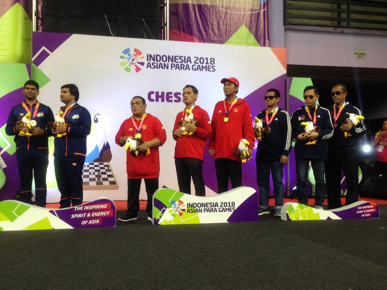 Hosts Indonesia won 11 gold medals in the chess ©Asian Para Games