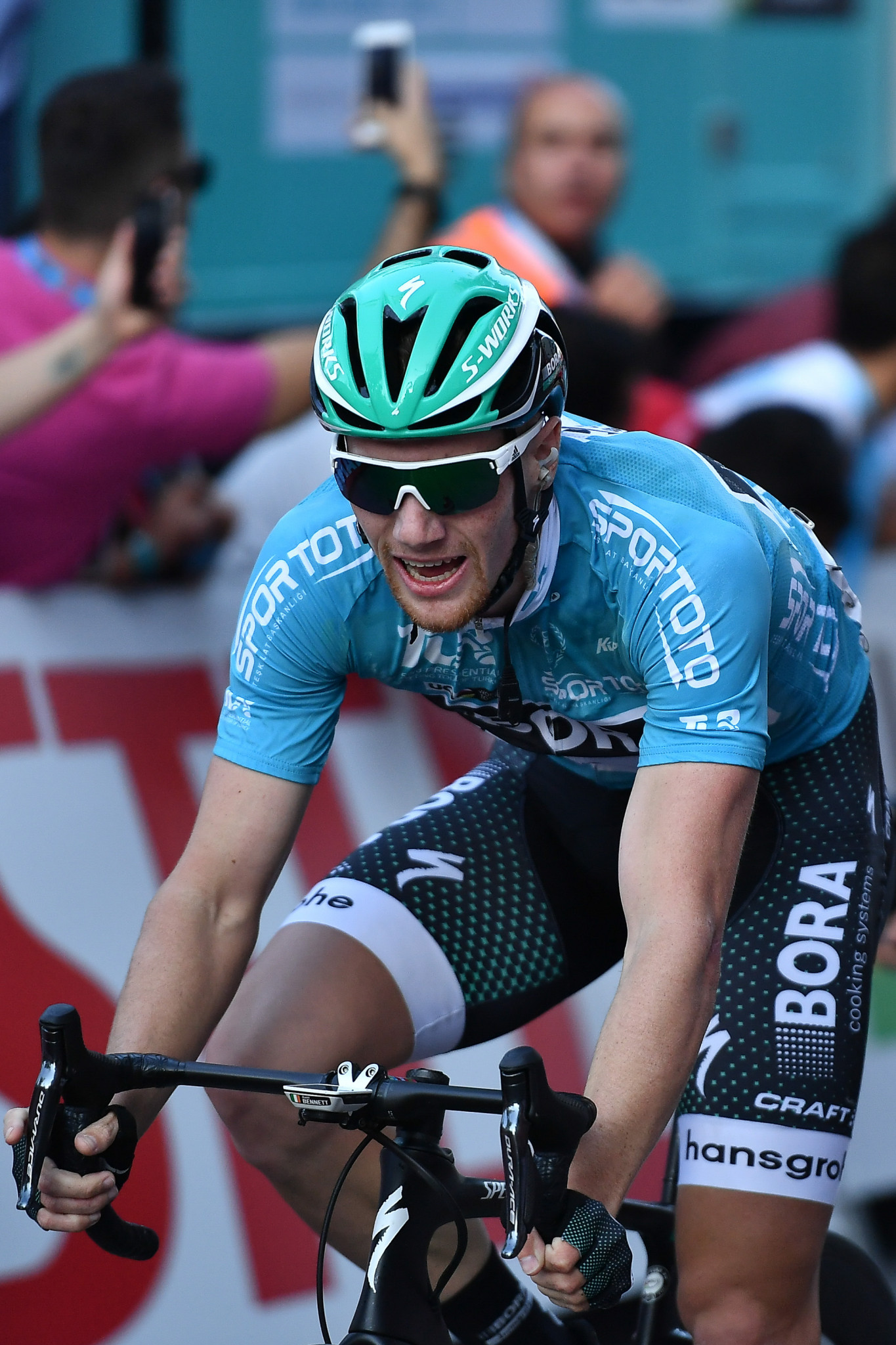 Ireland's Sam Bennett, who was leading the standings before today's stage, finished way down in 129th ©Getty Images