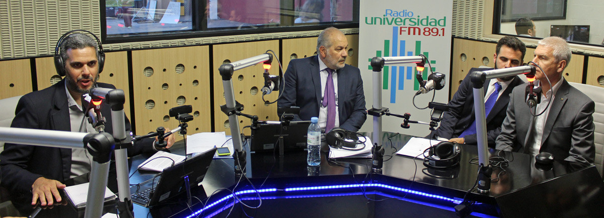 FISU President Oleg Matytsin appeared on student radio during his stay in Argentina's capital ©FISU