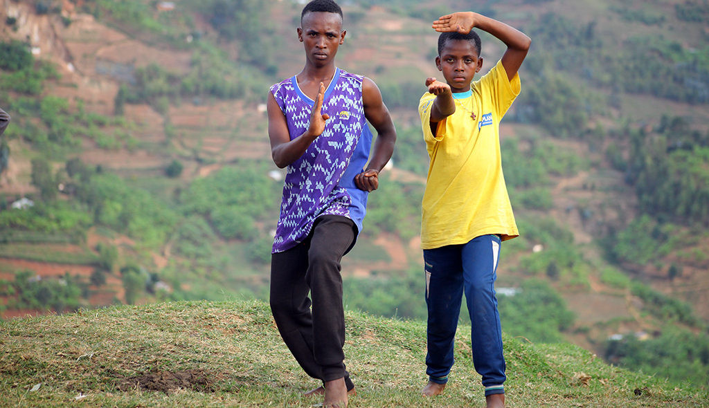 The Taekwondo Humanitarian Foundation trains refugees in the Kiziba and Mahama camps in Rwanda ©THF