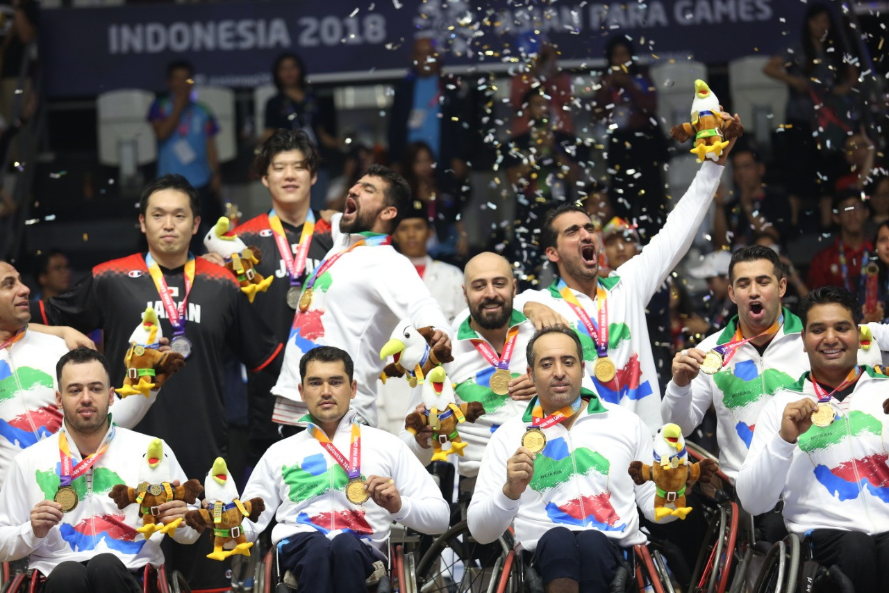 Iran won the men's wheelchair basketball gold medal on the final day of competition ©Asian Para Games