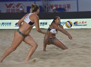 Brazilians Ana Patricia Silva Ramos and Rebecca Cavalcanti Barbosa Silva have progressed to the final of the FIVB Yangzhou Open in China ©FIVB