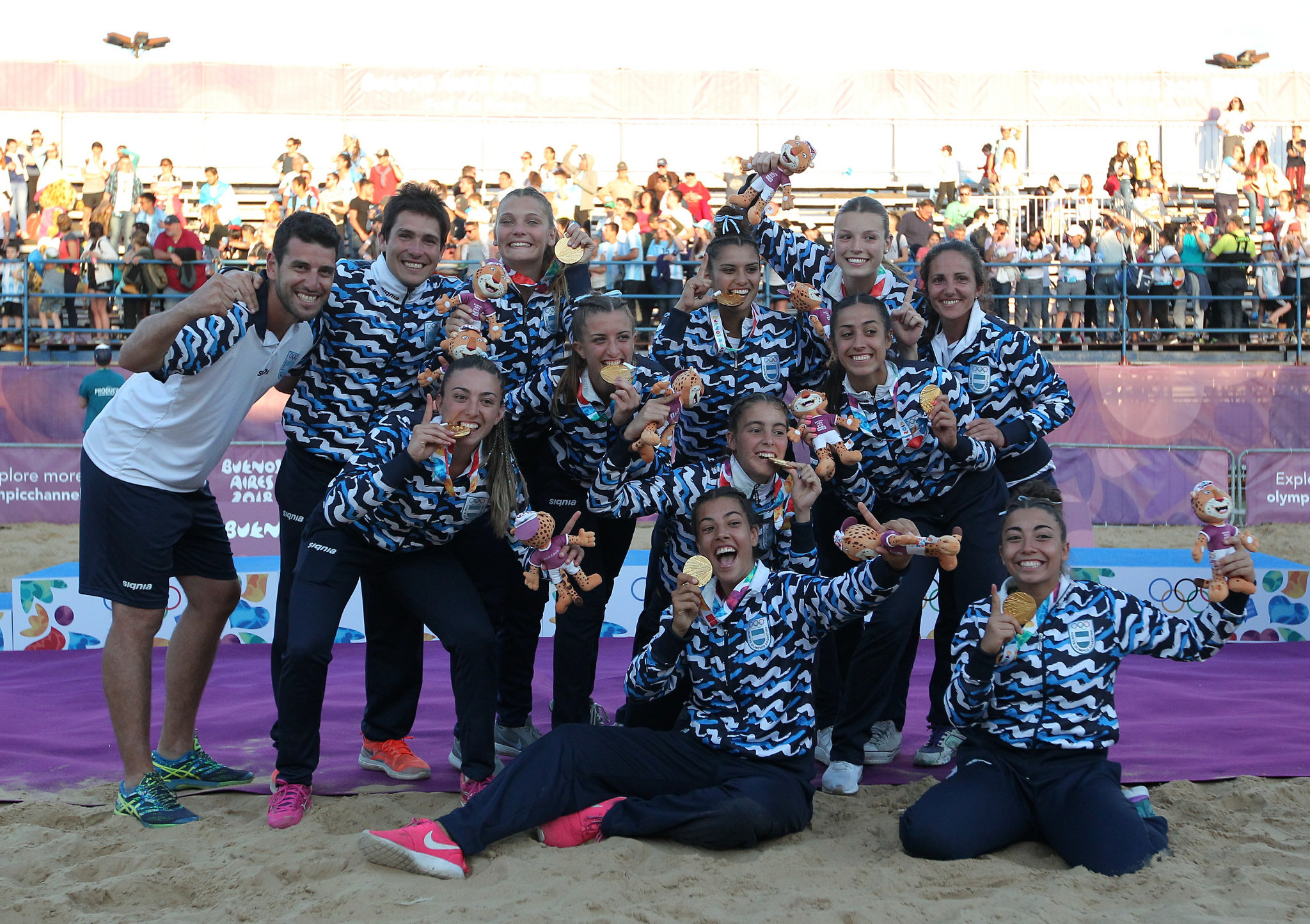 Beach handball champions crowned as China find form on day seven at Buenos Aires 2018