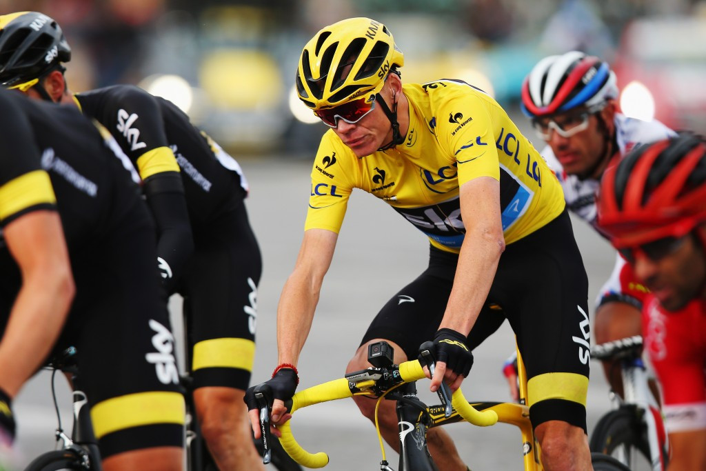 Britain's Chris Froome, of Team Sky, en route to his second Tour de France title this year. A totlal of 656 doping control tests were taken during the race, according to the UCI ©Getty Images