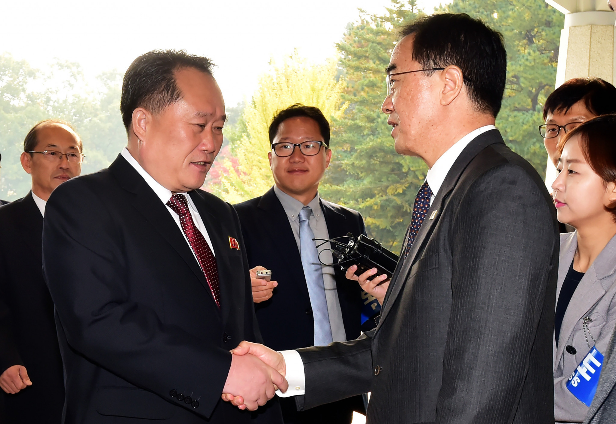 The talks signify the opening of high-level cooperation between the two Koreas ©Getty Images