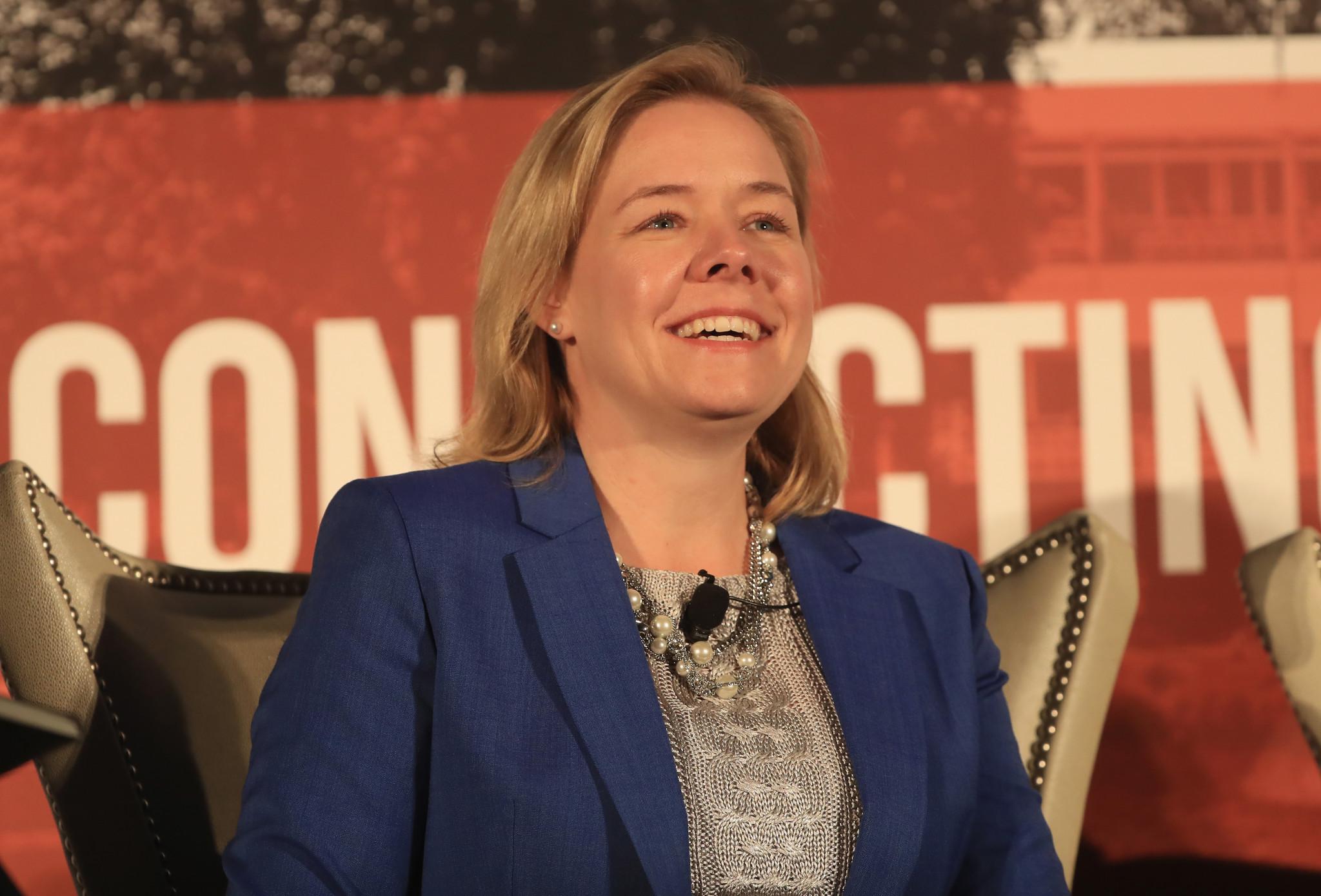 USOC chief executive Sarah Hirshland said Kirsty Carter's vision will be a