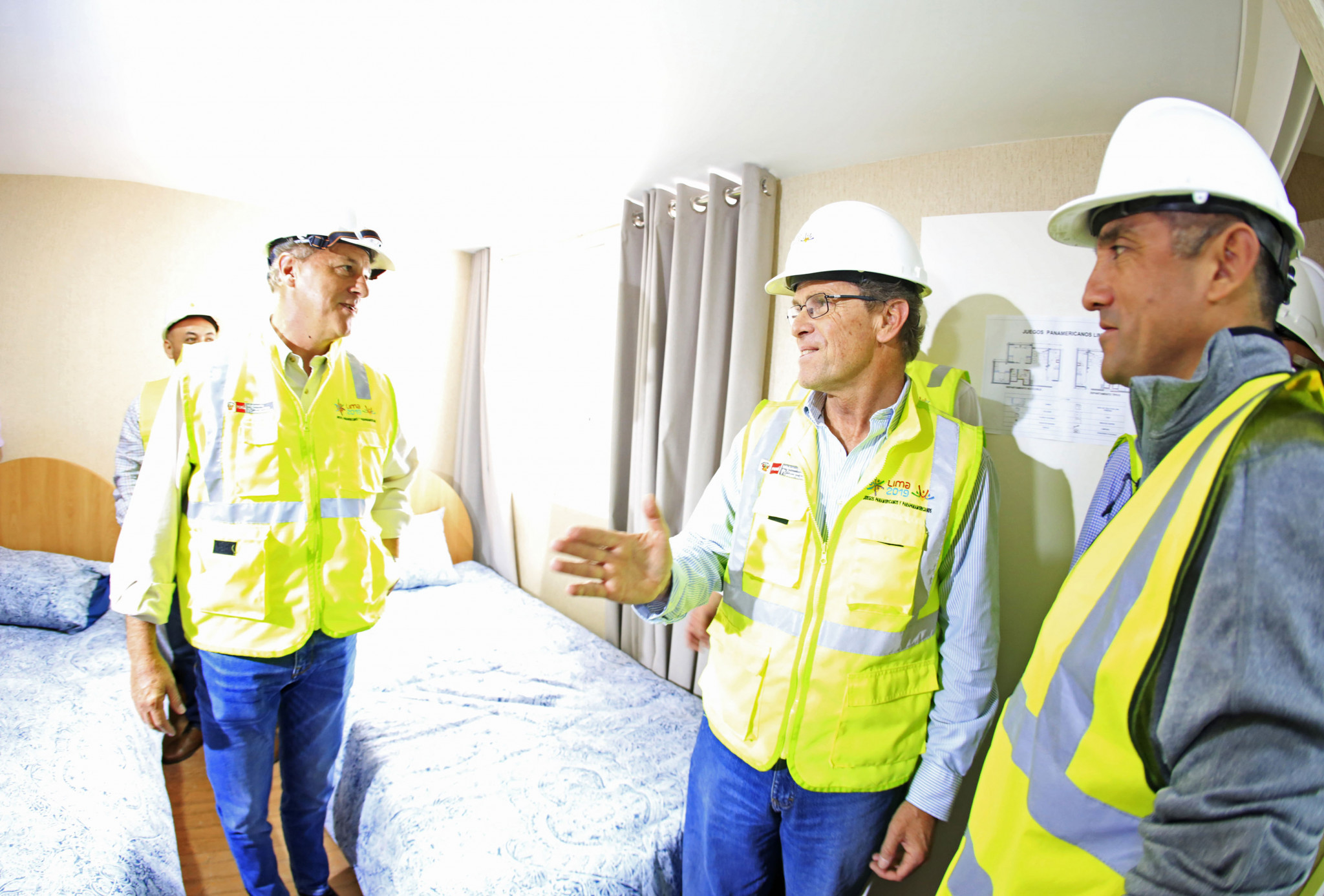 As well as touring the venues, the Mayor-elect of Lima  Jorge Muñoz Wells  also visited the Athletes' Village being built for next year's Pan American and Parapan American Games ©Lima 2019