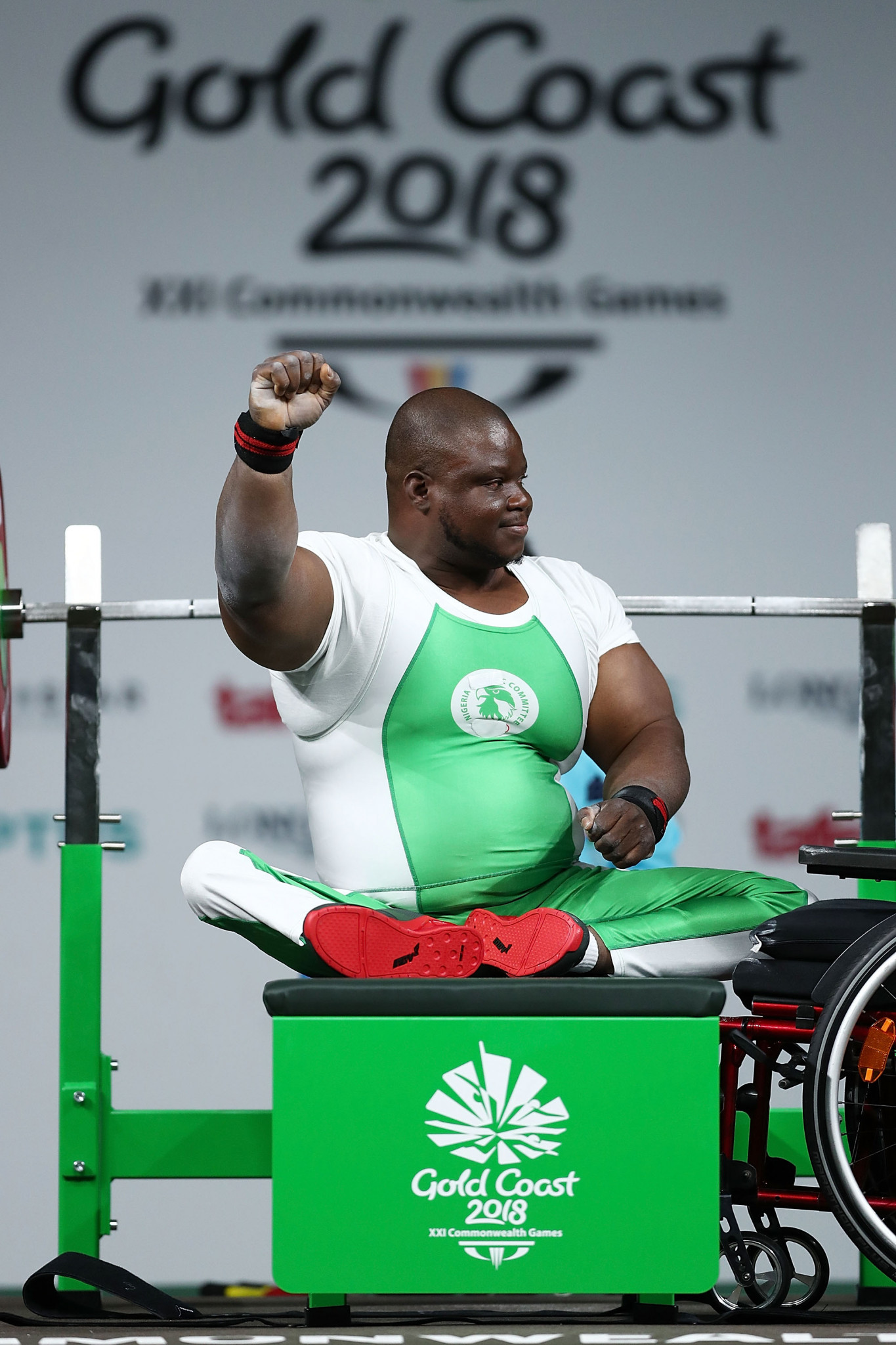 Athletes at the training camp will aspire to  succeed like Commonwealth Games powerlifting gold medalist Abdulazeez Ibrahim of Nigeria ©Getty Images