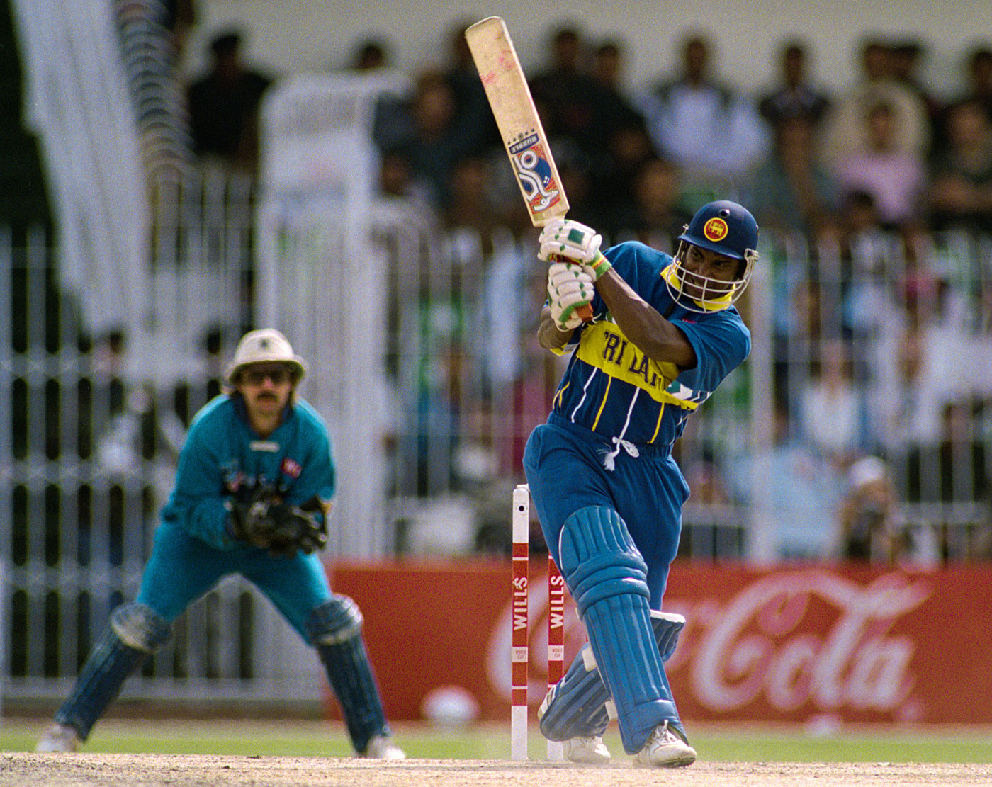 Sanath Jayasuriya is one of Sri Lanka's greatest cricketers and a member of its 1996 World Cup-winning team ©Getty Images
