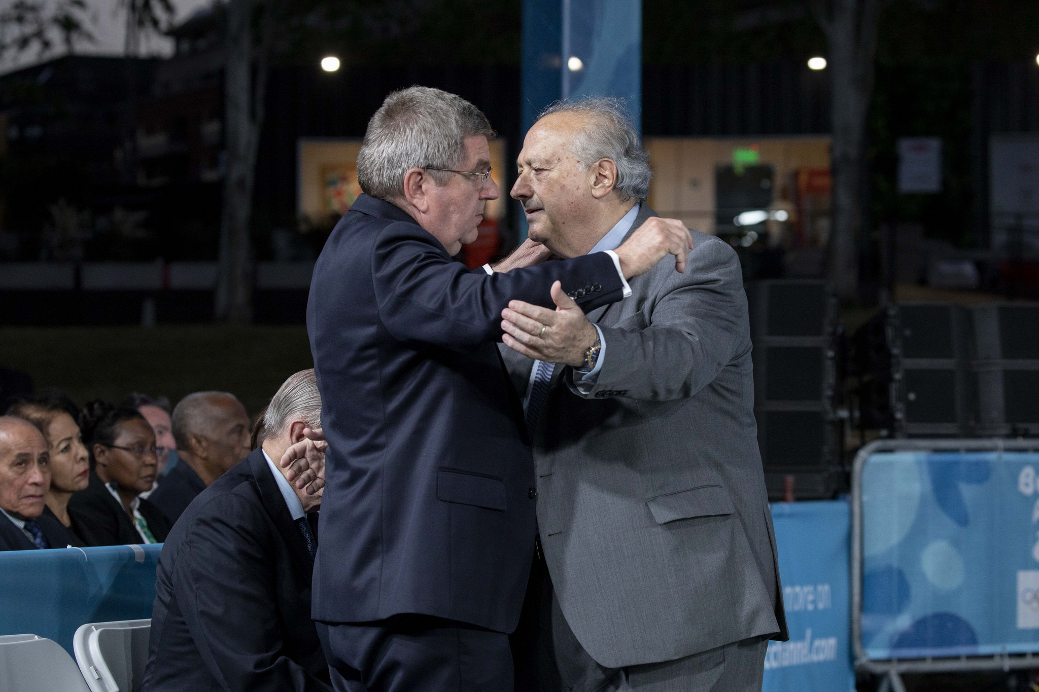 The Presidents of the IOC and FIBA both spoke at a ceremony attended by a host of members and other officials ©IOC