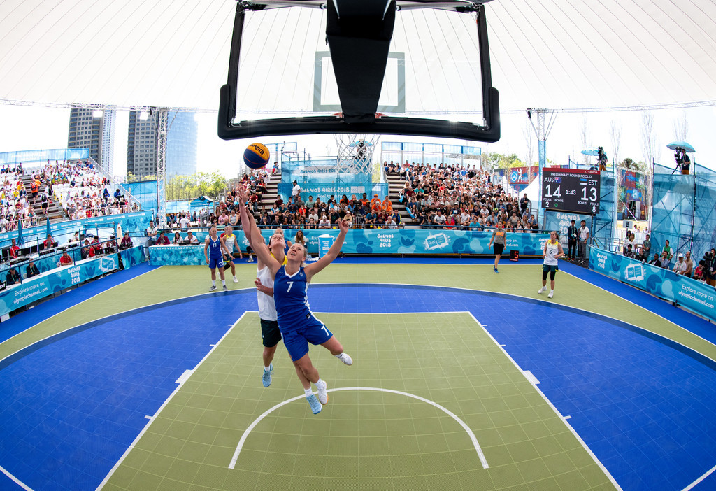 Basketball players competing at Buenos Aires 2018 hail Baumann's influence in 3x3 becoming Olympic sport