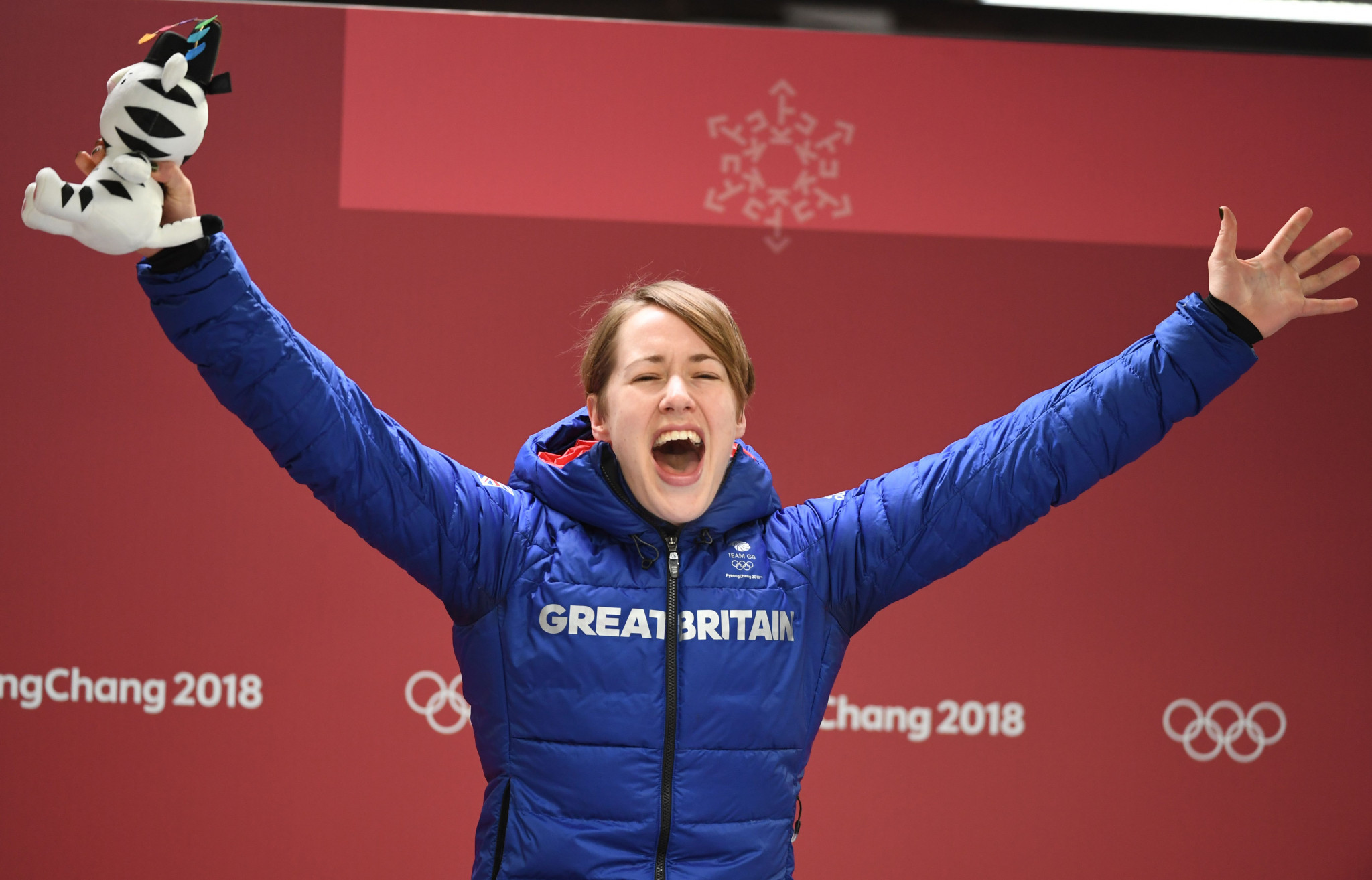 Lizzy Yarnold became Great Britain's most successful Winter Olympian of all time when she defended her skeleton title in Pyeongchang ©Getty Images