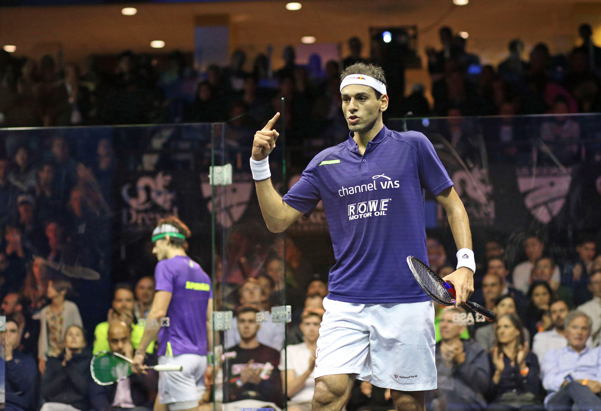 Recent US Open champion Mohamed Elshorbagy currently tops the PSA World Tour leaderboard ©PSA