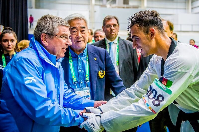 IOC President watches future taekwondo stars at Buenos Aires 2018