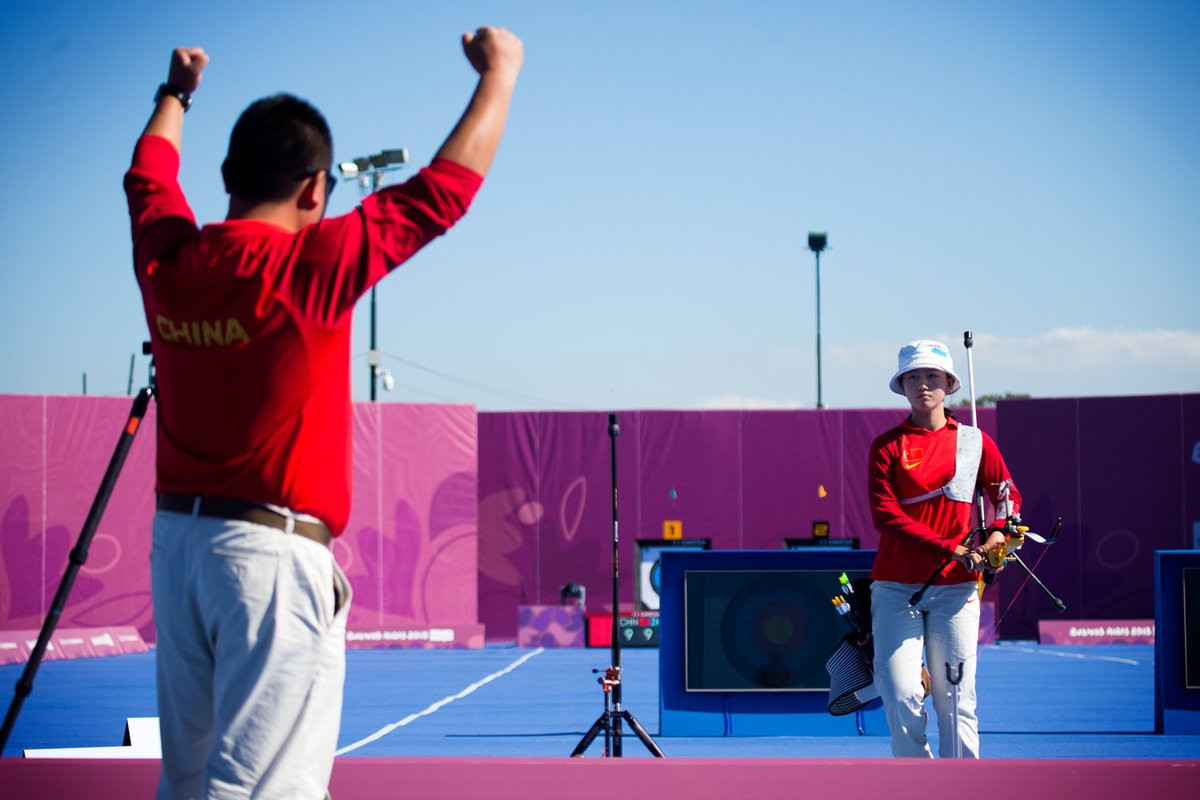 Zhang Mengyao clinched the women's archery gold medal to ensure the title remained in China ©World Archery