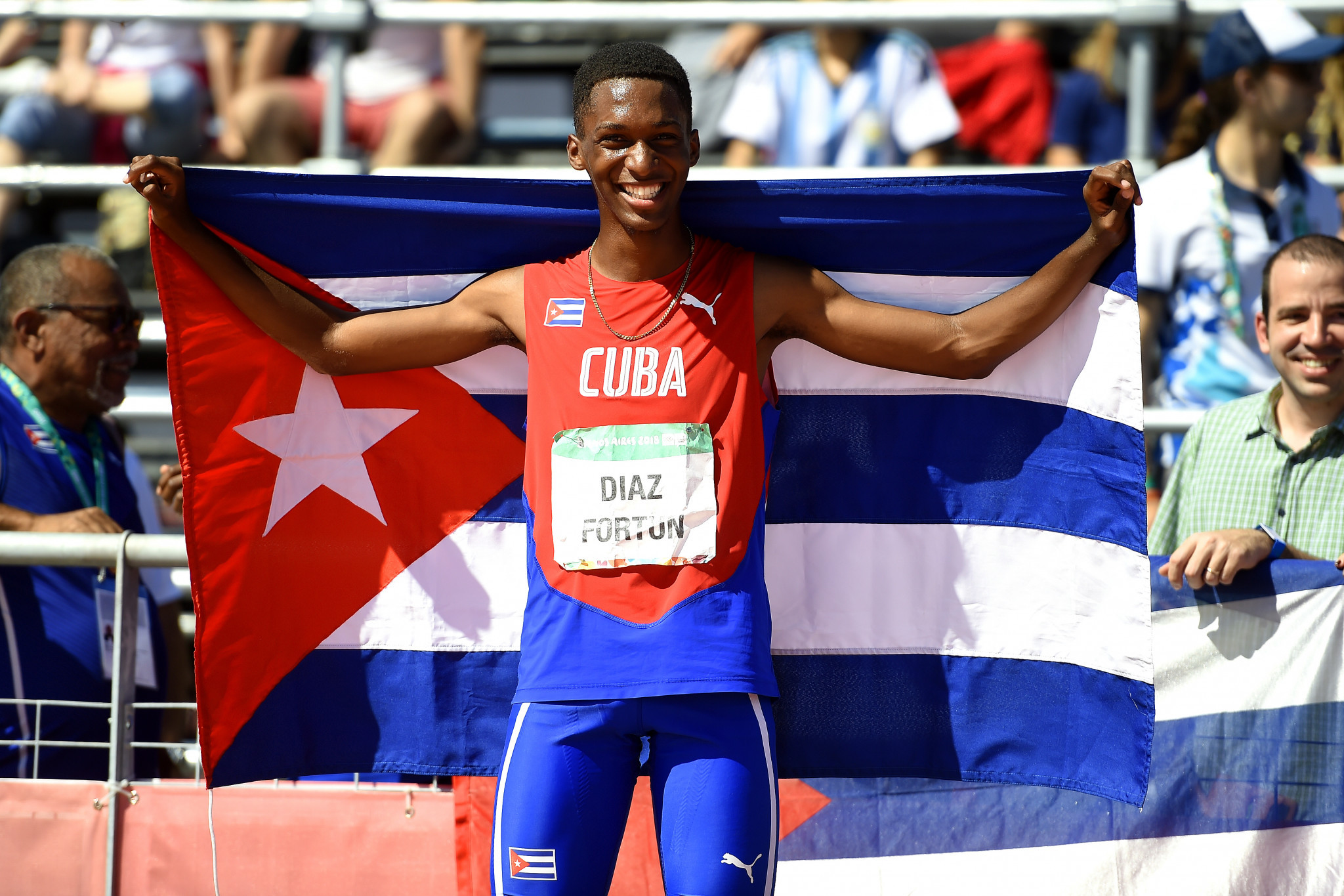 Cuba's  Jordan Diaz Fortun was the clear winner of the men's triple jump ©Getty Images