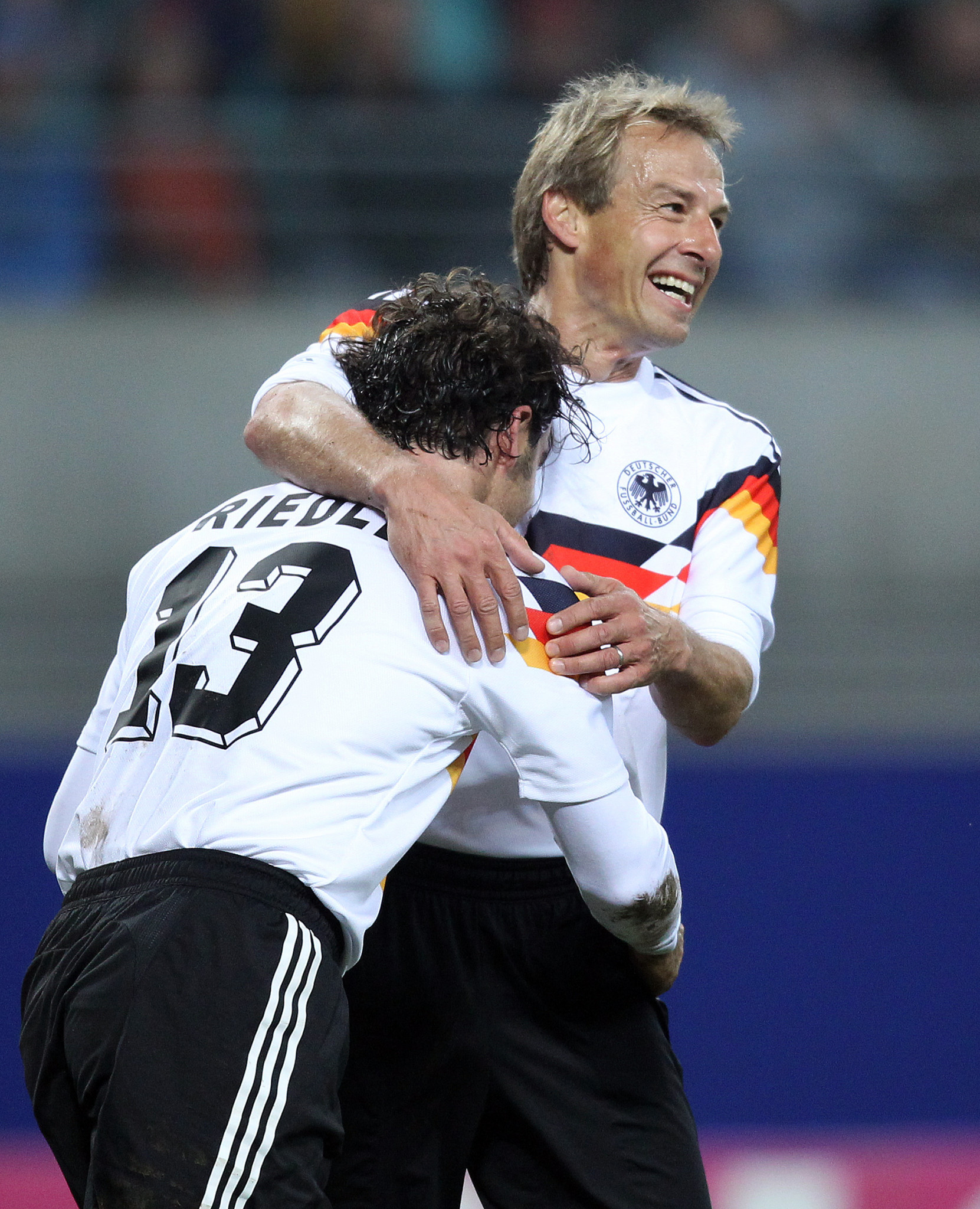 Jürgen Klinsmann, a World Cup winner for Germany was known for his occasional diving prowess ©Getty Images