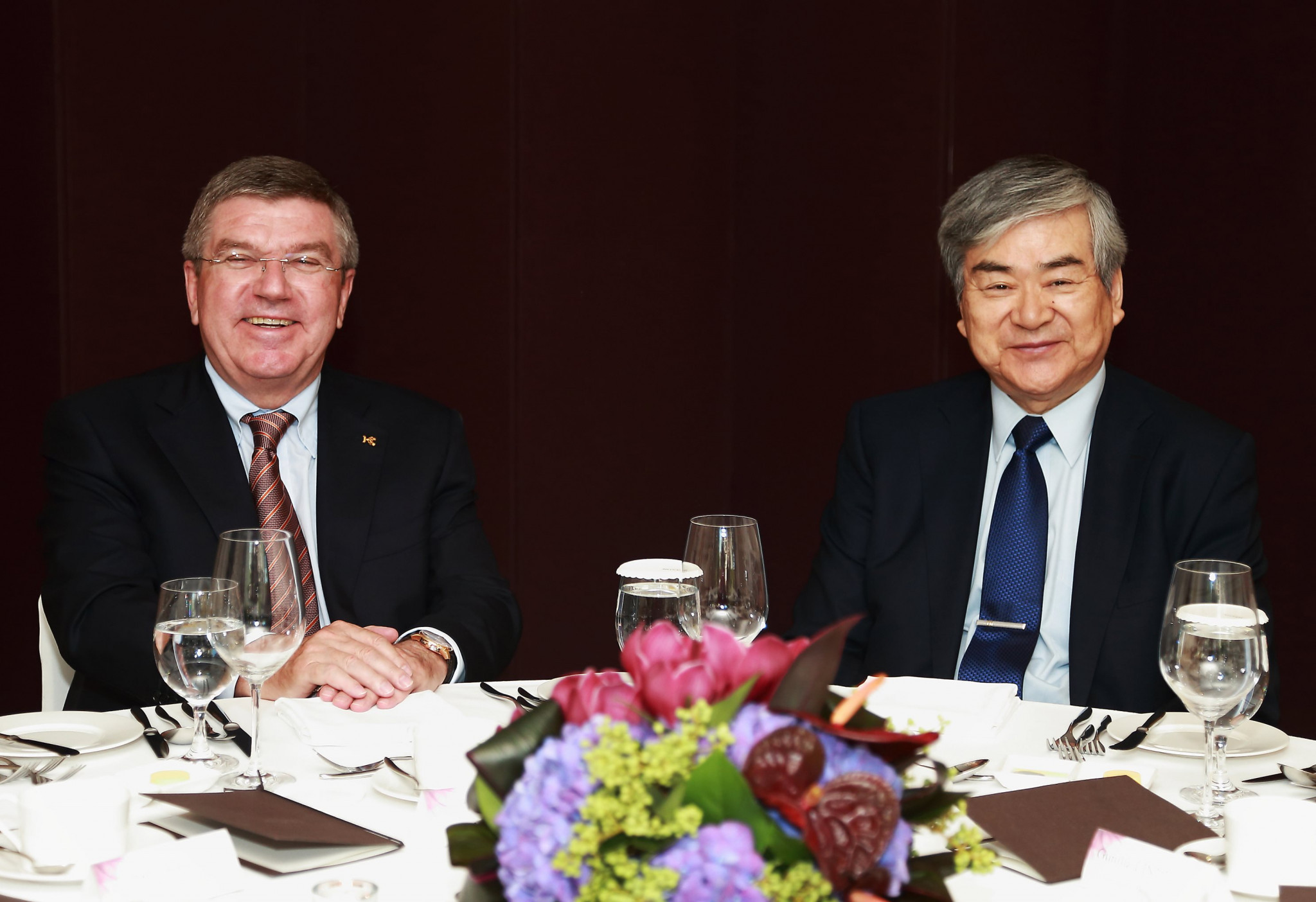 Yang Ho Cho,pictured with IOC President Thomas Bach, was credited with helping getting preparations for Pyeongchang 2018 back on track when he returned in 2014, only to be forced out again two years later ©Pyeongchang 2018
