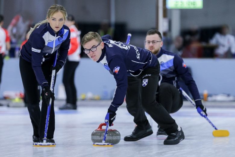 Scotland are the first nation to book their place in the play-offs at the Mixed Curling World Championship in Canada ©WCF