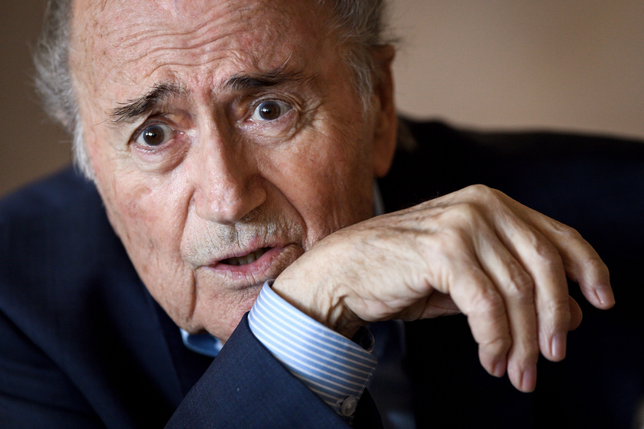 In a speech in 2015 Osiris Guzman compared now disgraced former FIFA President Sepp Blatter to Jesus Christ, Nelson Mandela and Winston Churchill combined ©Getty Images