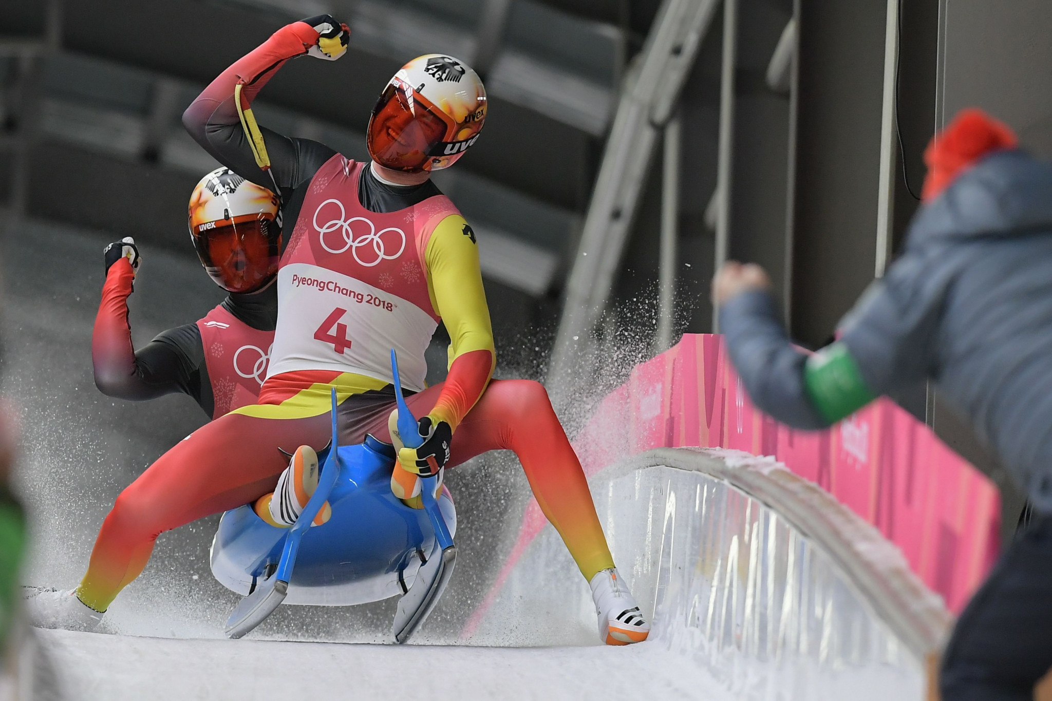 Germany's Toni Eggert and Sascha Benecken claimed the doubles Olympic bronze medal at  Pyeongchang 2018 ©Getty Images