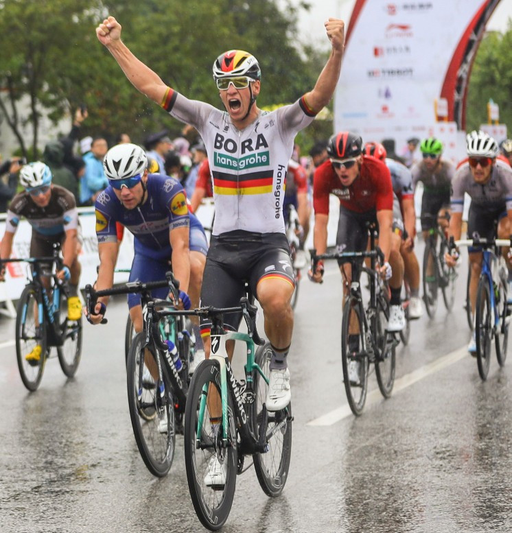 Ackermann wins Tour of Guangxi stage two as heavy rain causes problems