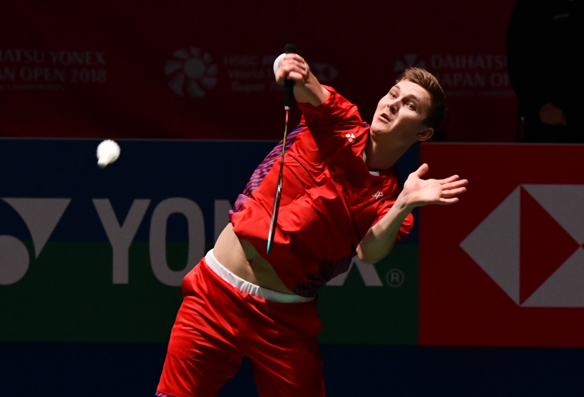 Home favourite Viktor Axelsen opened his bid to claim the BWF Denmark Open title for the first time by registering a straight-games win over Japan's Kazumasa Sakai in Odense today ©Getty Images