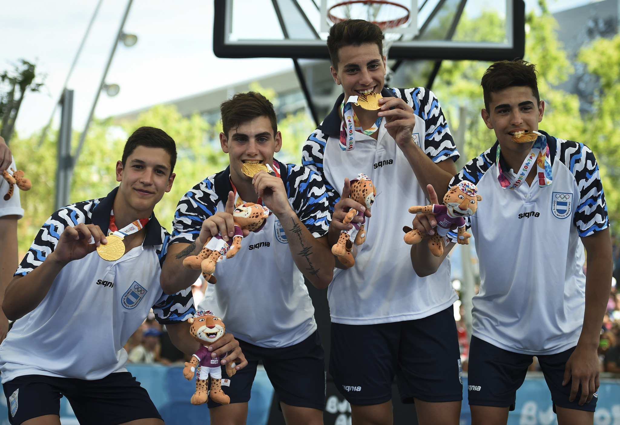 Argentina won the men's 3x3 basketball title ©Getty Images