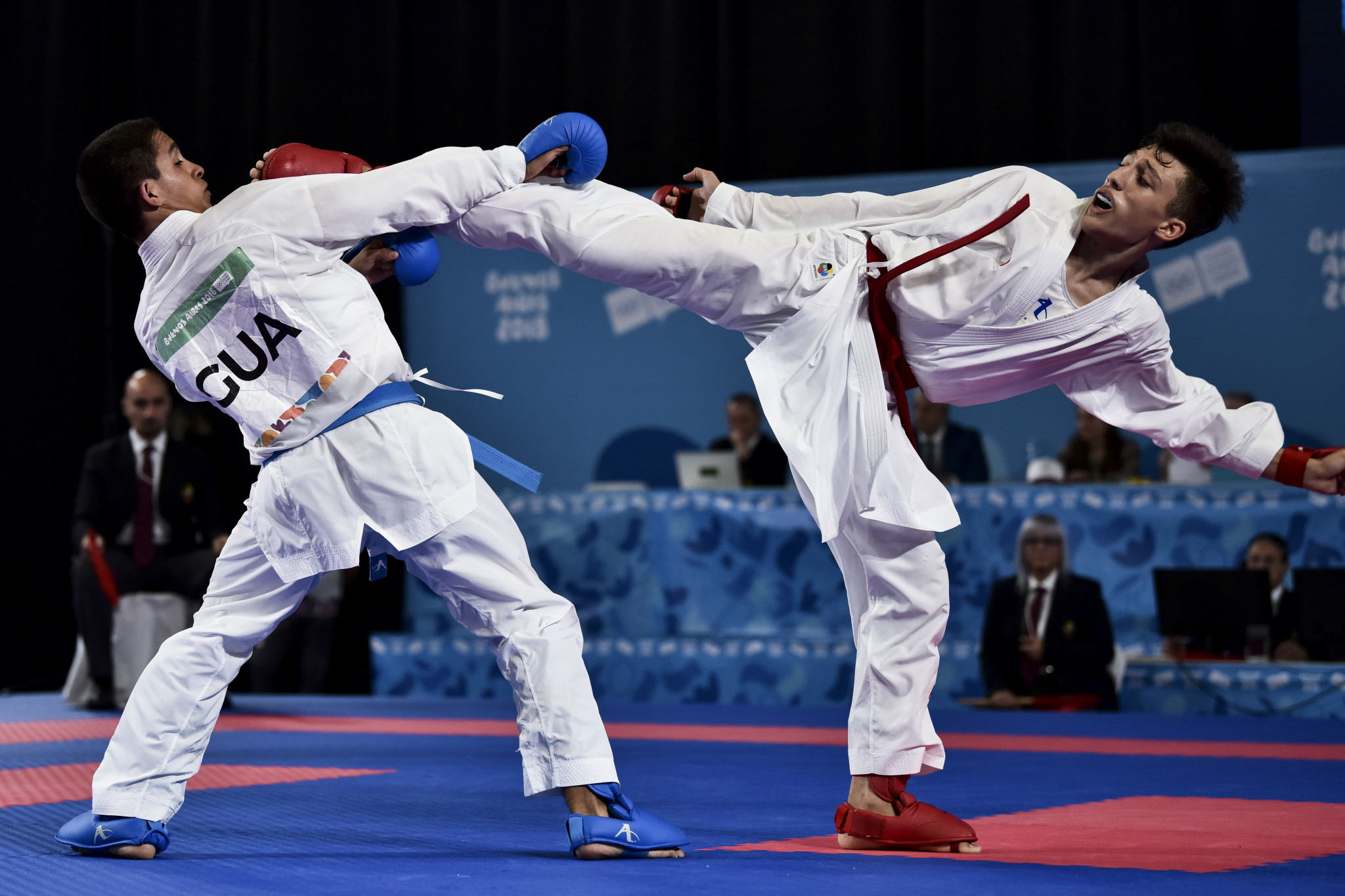 Karate made its first appearance of the Games with three titles on offer ©Getty Images