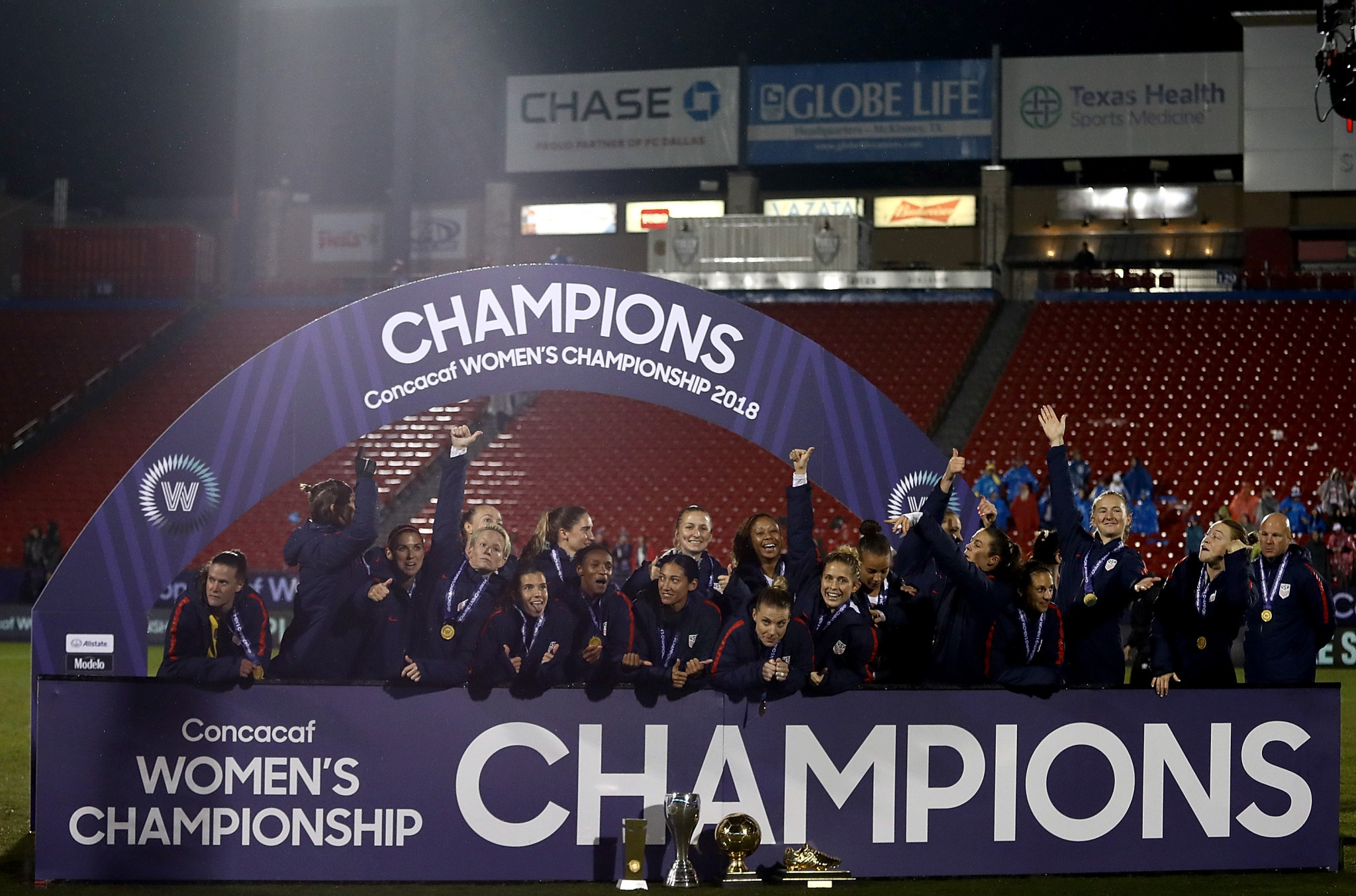 Hosts the United States claimed a 2-0 victory over Canada today to successfully defend their CONCACAF Women's Championship title ©Getty Images