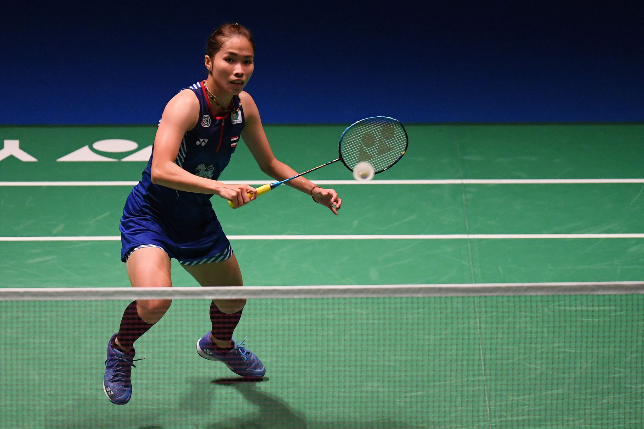 Thailand's defending champion Ratchanok Intanon was eliminated from the women's singles event ©Getty Images