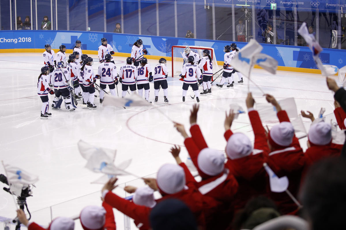The IIHF have been honoured by Peace and Sport for their role in helping bring together North and South Korea to create a unified women's ice hockey team for this year's Winter Olympic Games in Pyeongchang ©Getty Images