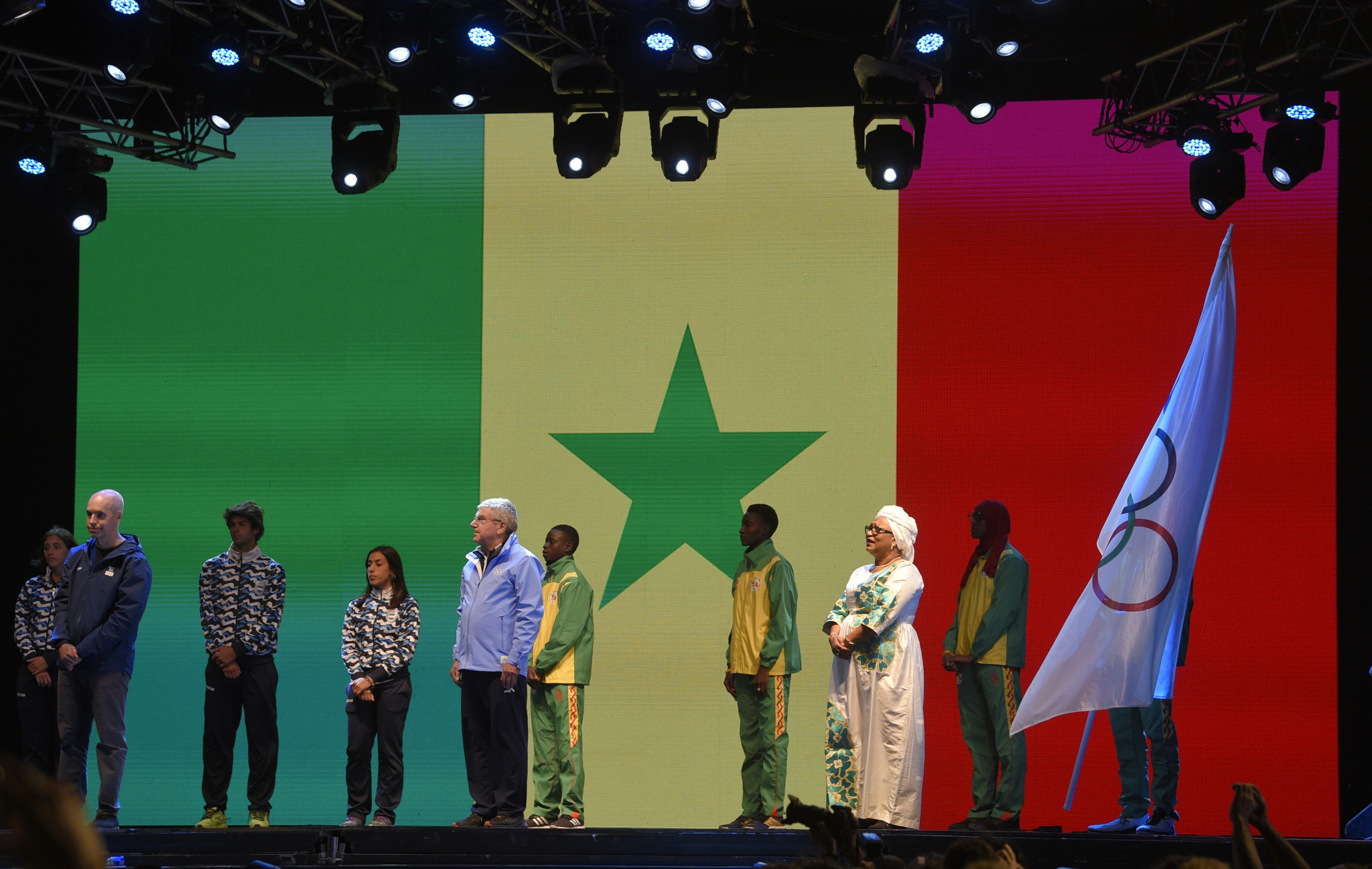 The flag was passed to Senegal's capital Dakar as the begin preparations for the 2022 Games ©Getty Images