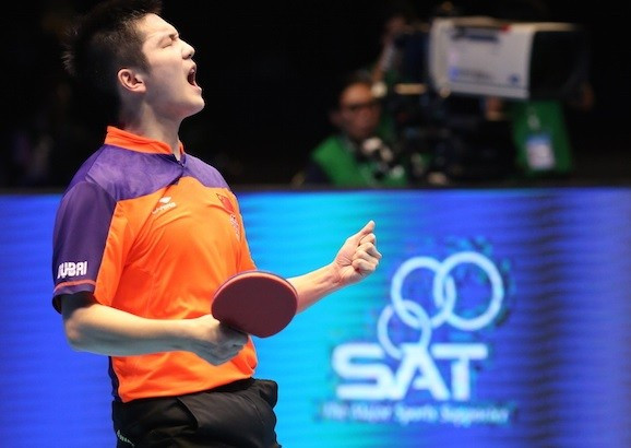 China's Fan Zhendong claimed four golds at the Asian Table Tennis Championships ©ITTF