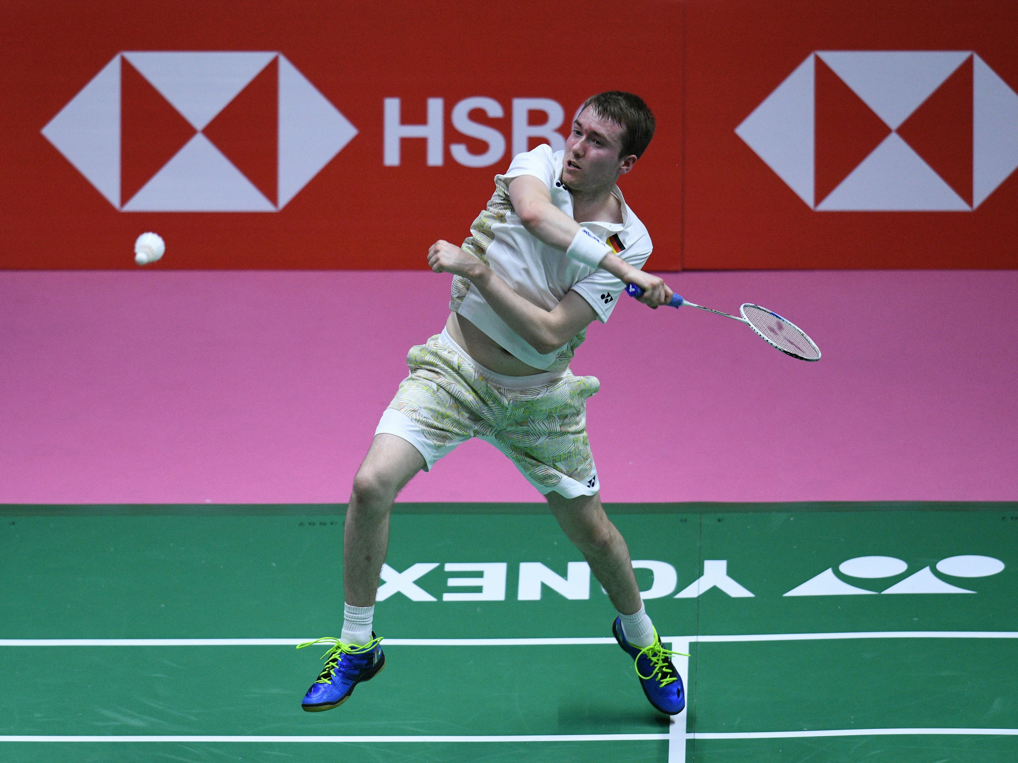 Top seed Lars Schaenzler is up and running in his quest to claim the men's singles title at the FISU World Badminton Championships in Kuala Lumpur ©Getty Images