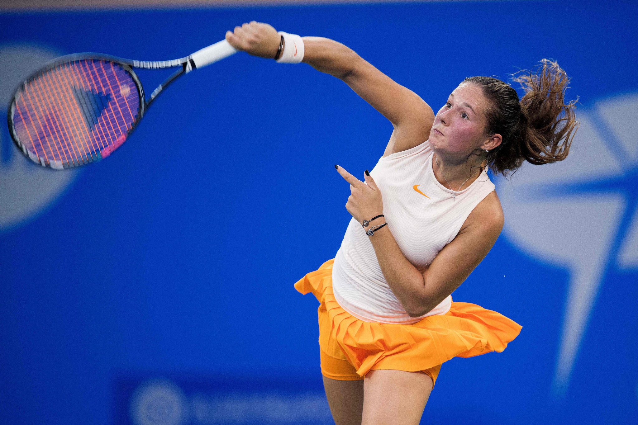 Home favourite Daria Kasatkina beat Great Britain's Johanna Konta in today's second semi-final ©Getty Images