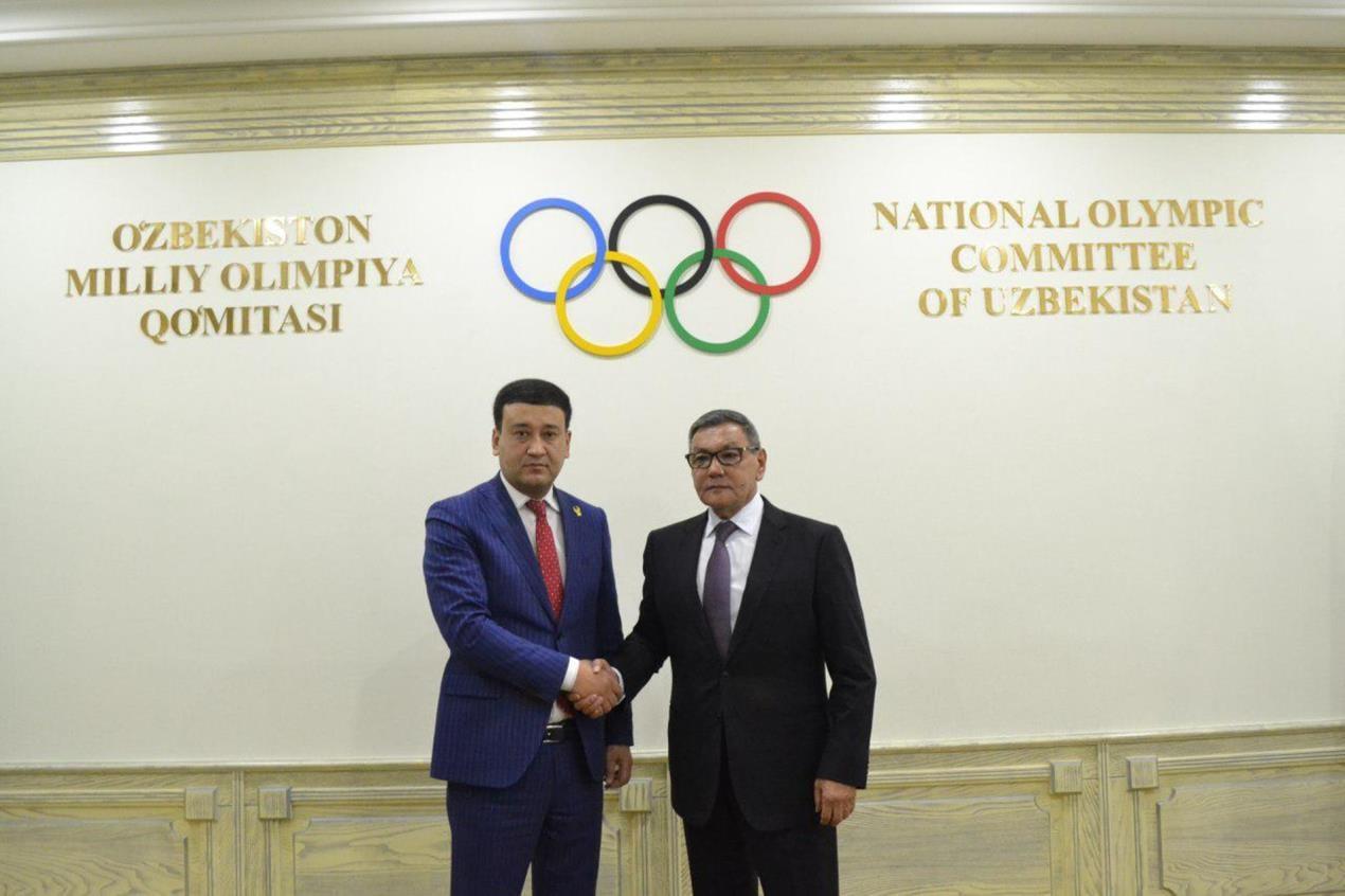 Gafur Rakhimov, right, is no longer on a wanted list in Uzbekistan ©AIBA