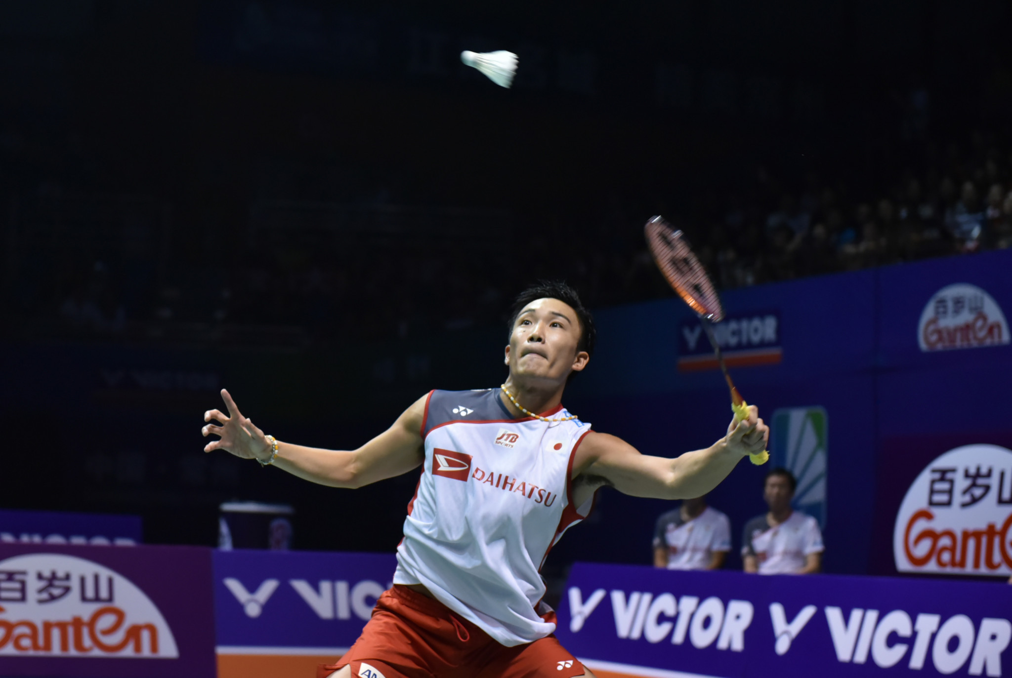 World champion Kento Momota eased through to the semi-finals of the BWF Denmark Open with a straight-games victory over Thailand's Khosit Phetpradab in Odense today ©Getty Images
